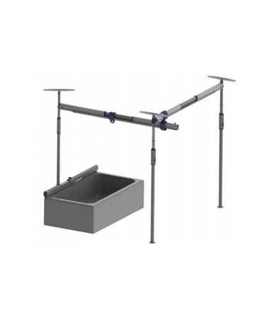 Pressure Fit 3-Post Bathtub Free Standing Track System PRS341515