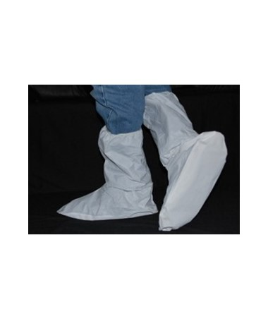 "White SunSoft 15"" Boot Cover with Rigid PVC Waffle Sole SNT180"
