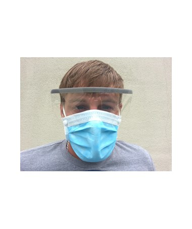 Disposable Face Mask with Ear Loop and Eye Shield SNT224