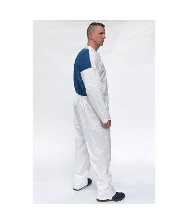 White Suntech Cool Coverall with Front Zipper SNTCO120