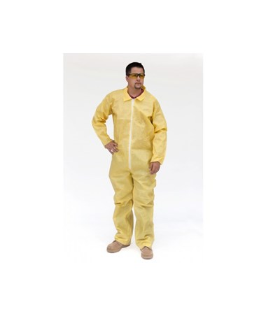 Yellow SunShield 100 Coverall with Zipper Front SNTS5412
