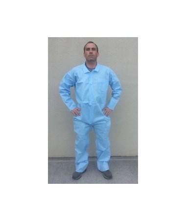 Blue Lightweight Polypropylene Coveralls with Zipper Front SNTT3101-50