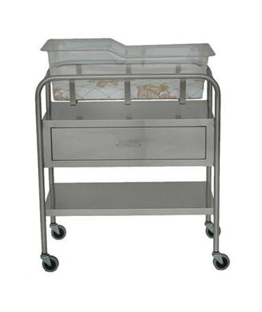 Stainless Steel Bassinet with Drawer UMFSS8525