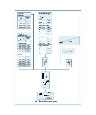 6 V Halogen Illumination System for Endoscopy