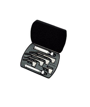 Fiber Optic Miller Laryngoscope Set with Case WEL68696