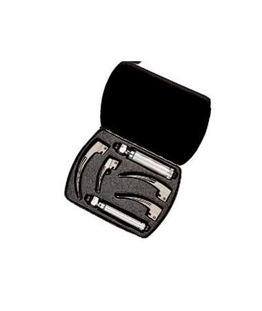 Fiber Optic English Macintosh Laryngoscope Set with Case WEL69697