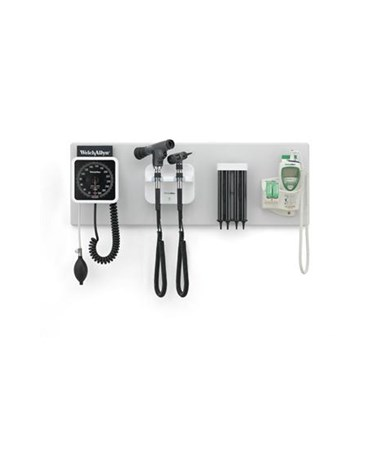 Wall Board with Aneroid, Transformer & Heads, Specula Dispenser, and SureTemp Thermometer (all sold separately)
