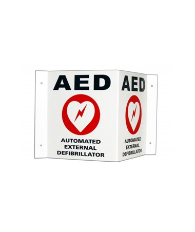 3D Wall Sign/Door Decal for Powerheart AED Defibrillators ZOL168-6002-001